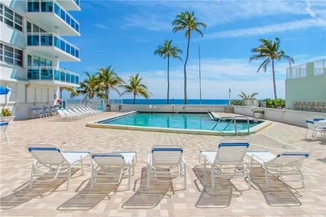 Pool views Commodore Galt Ocean Mile condos for sale