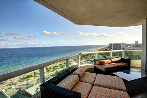 Look at the view from this Fort Lauderdale luxury oceanfront condo sold in 2017