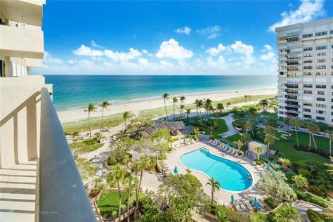 View 2 bedroom Fort Lauderdale oceanfront condo recently sold Sea Ranch Club