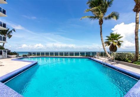 Pool and ocean views Galt Ocean Mile condo for sale Royal Ambassador