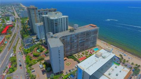 Aerial view of The Galleon Condominium 4100 Galt Ocean Drive Galt Ocean Mile Fort Lauderdale