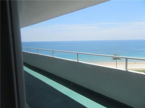 View from Caribe Inc condo Broward County recently sold - Unit 1108