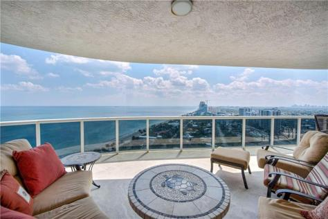 View L'Hermitage condo recently sold 3100 N Ocean Blvd Galt Ocean Drive - Unit 2210
