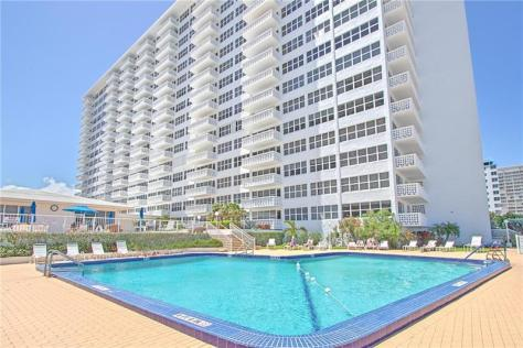 Pool view Ocean Summit condominium 4010 Galt Ocean Drive Fort Lauderdale