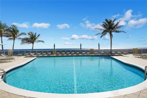 Pool views Galt Ocean Mile condo for sale L'Ambiance 4240 Galt Ocean Drive