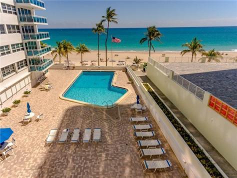 Pool views Galt Ocean Mile condo The Commodore 3430 Galt Ocean Drive Fort Lauderdale