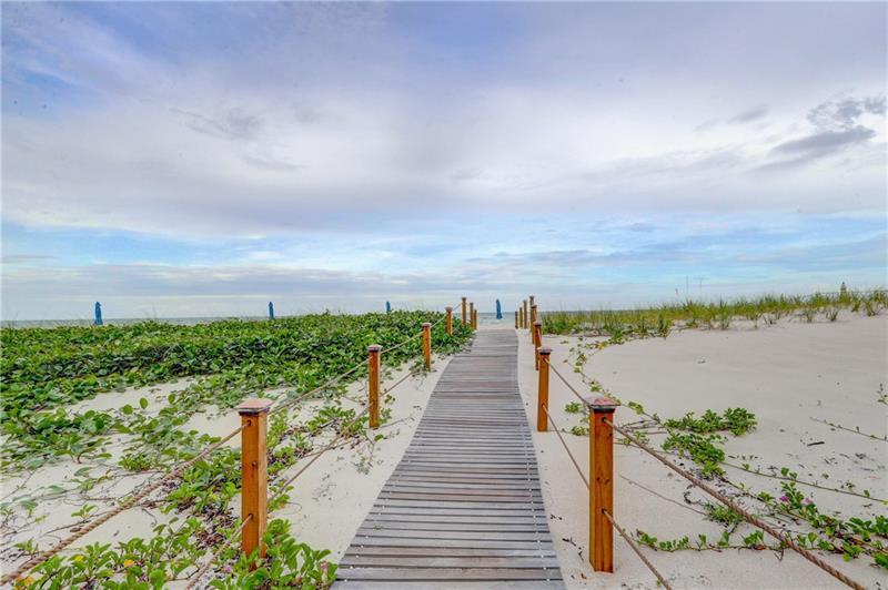 Beach Entrance Galt Ocean Mile condo Edgewater Arms