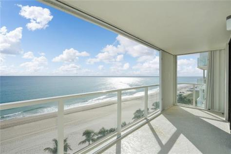 View 2 bedroom Fort Lauderdale oceanfront condo recently sold Pompano Beach