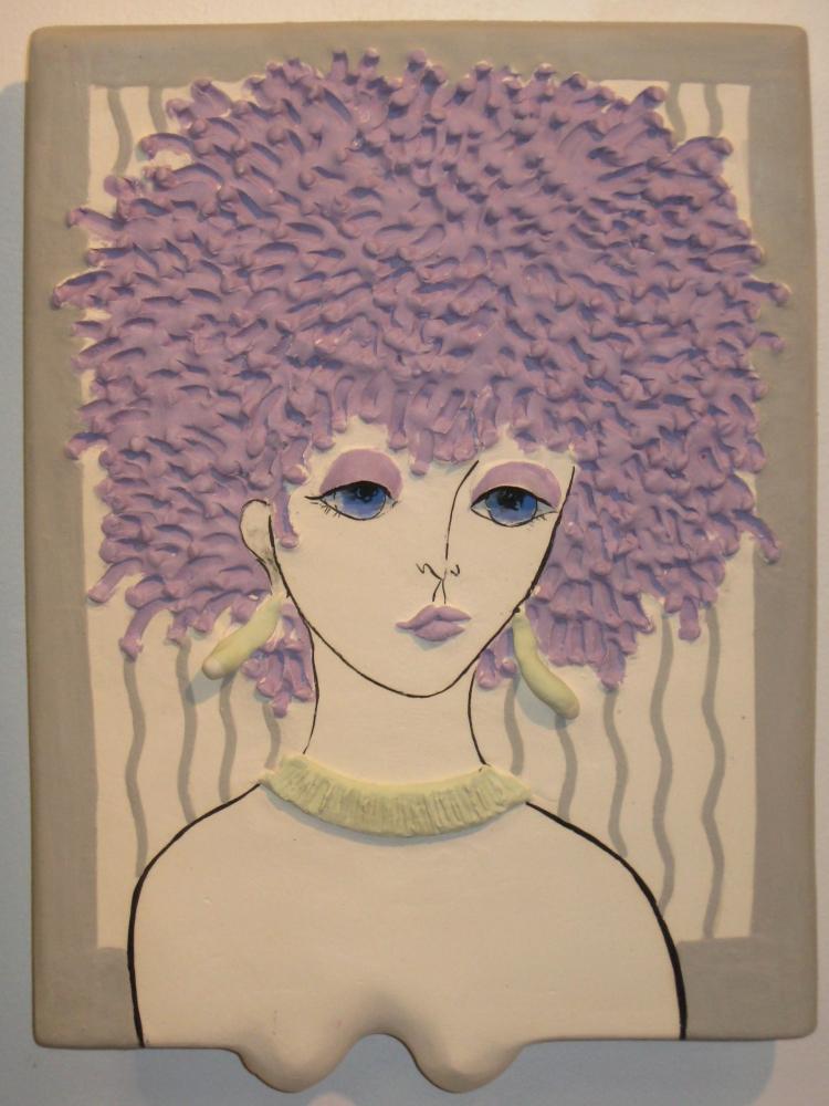 Art Jean Barile 2013 Lady Plaque Purple Fro
