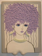 Art Jean Barile 2013 Lady Plaque Purple Fro