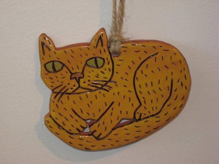 Art Animalia Pottery Ornament Cat