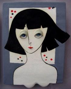 Art Jean Barile Lady Plaque Brunette