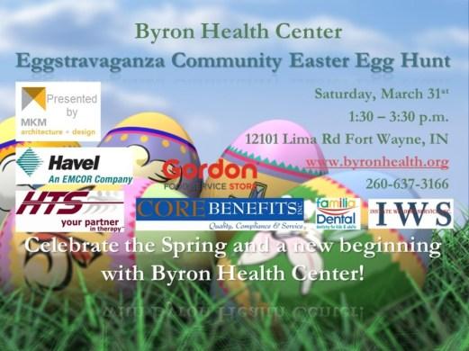 Easter Egg Hunt 2018 block with sponsors