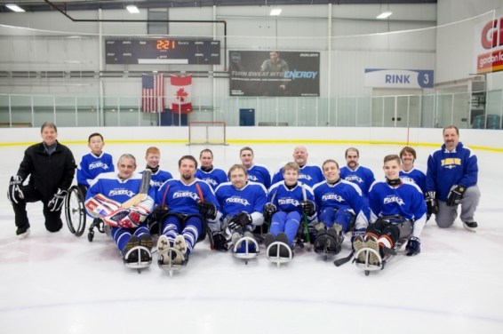 Turnstone Sled Hockey Team March 2018