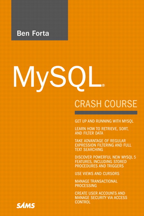 MySQL Crash Course – Ben Forta