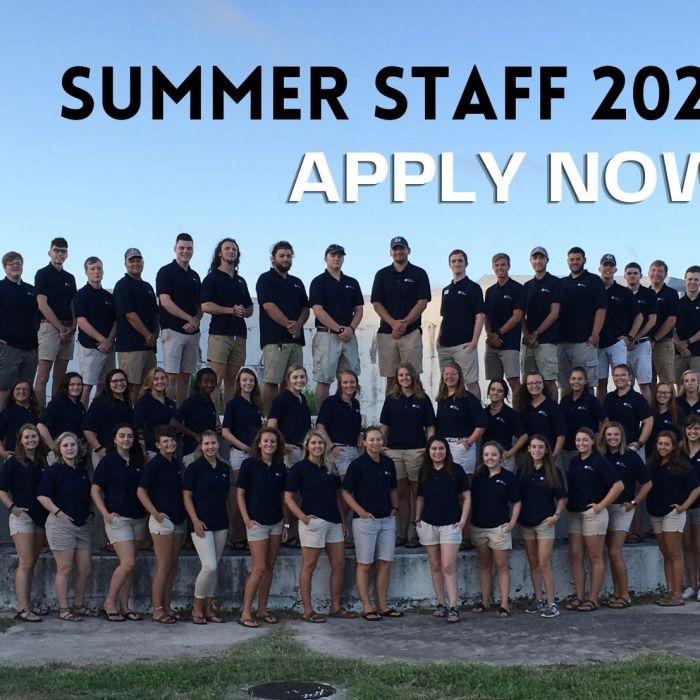 Summer Staff 2021—Apply Now