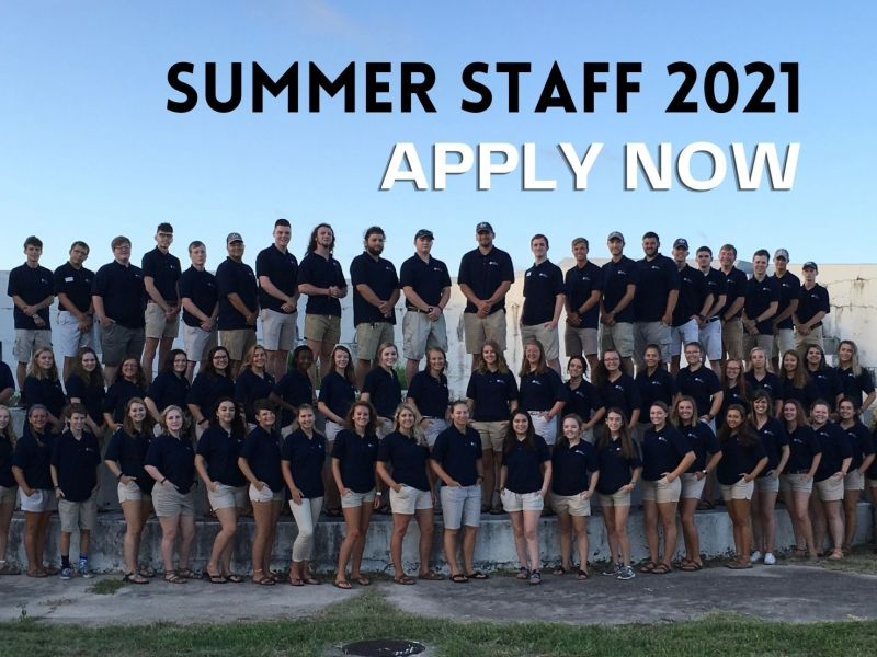 Summer Staff 2021—Apply Now