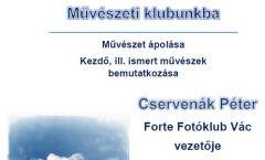 Művészeti klub a könyvtárban - Cservenák Péter