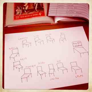 A sketch showing the assigned seats for MESA #1