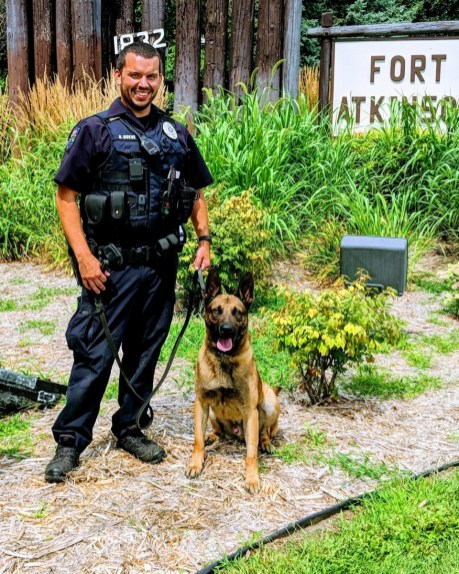 Police Dog Bolt, here with Officer Boeve