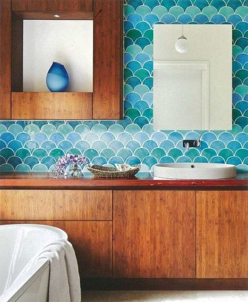 fish scale tiles for flooring