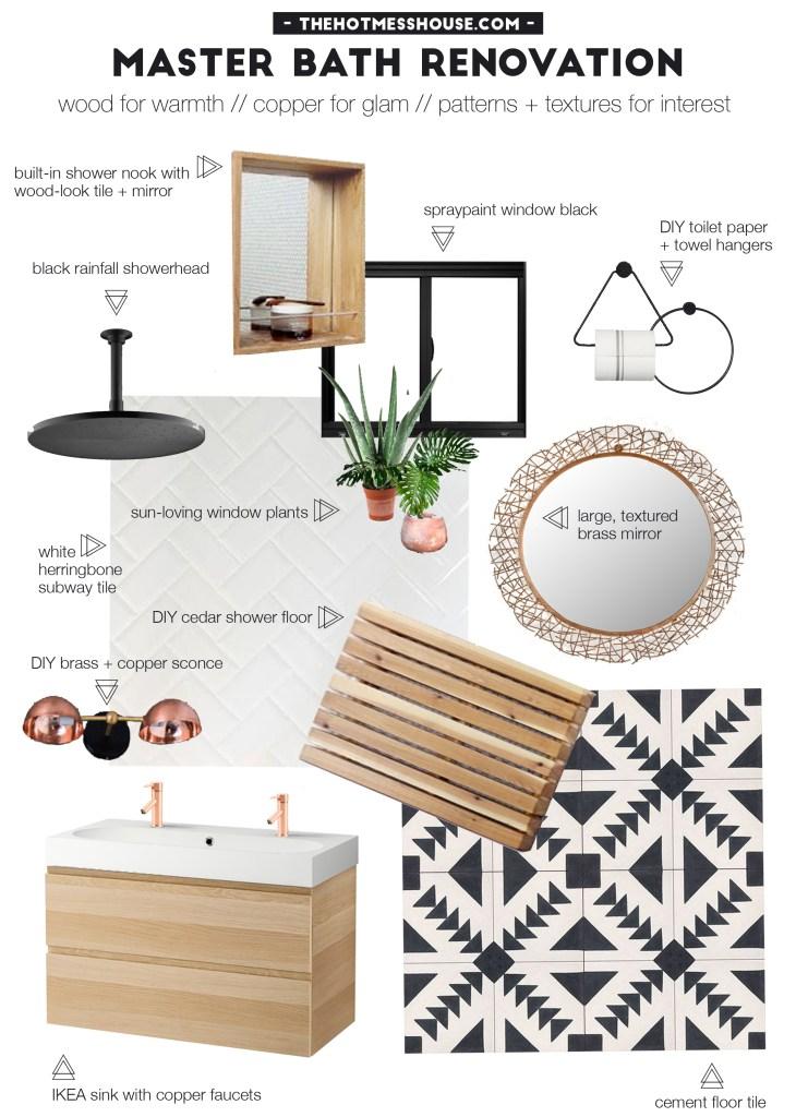 The Hot Mess House // Bathroom Renovation Mood Board