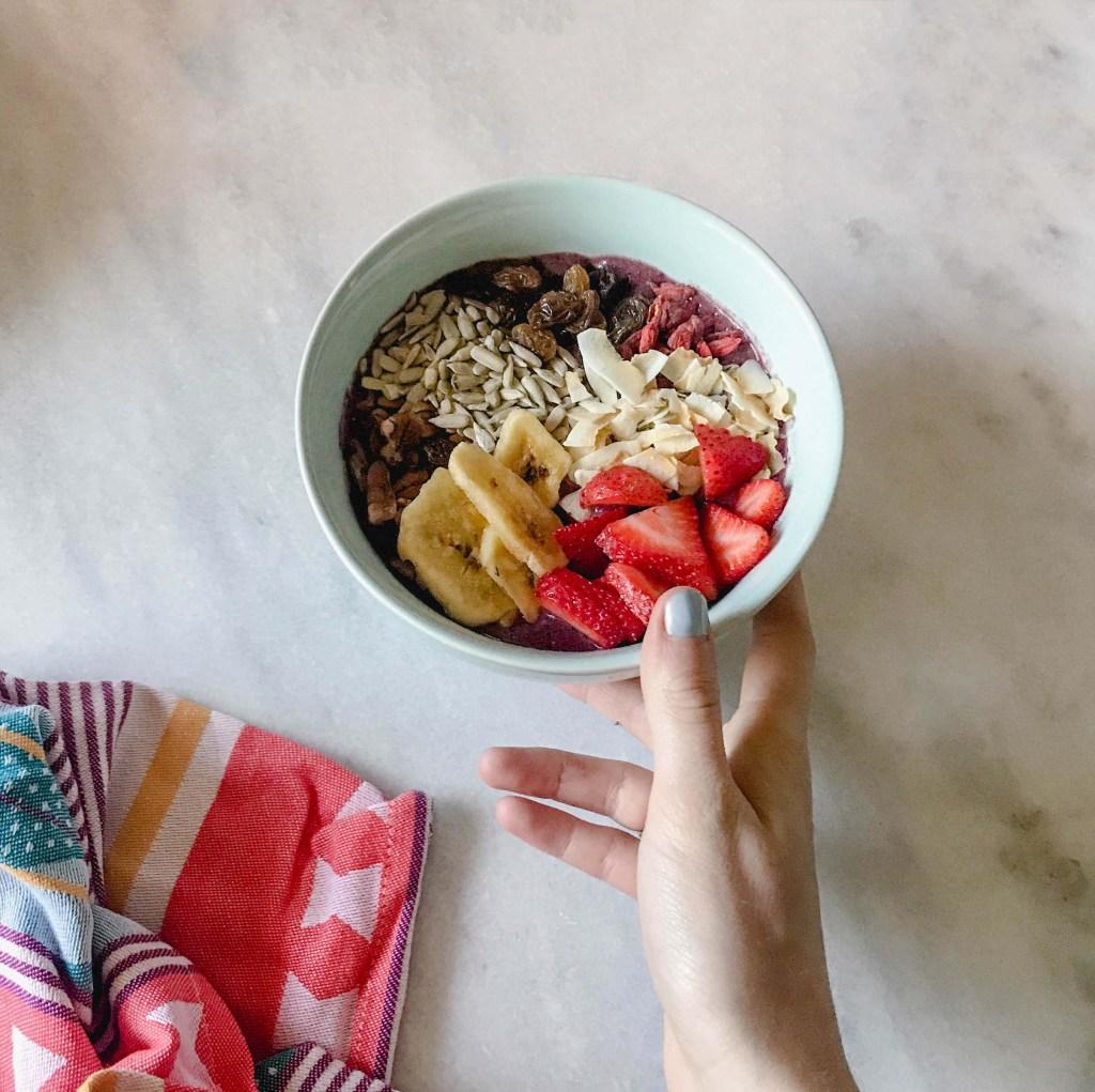 Acai and fruit bowl