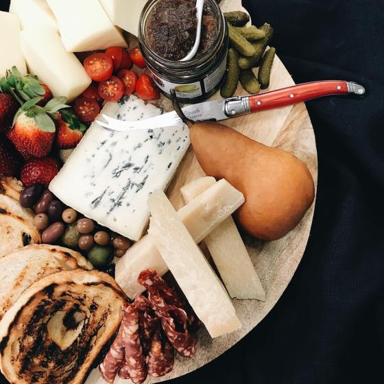 styled charcuterie board