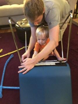 Levi helping daddy