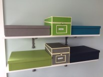 AFTER: Shelves with File Boxes