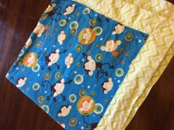 Levi's baby blanket made by Uncle Kyle