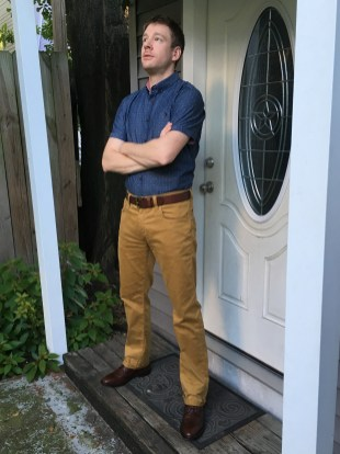 7 Diamonds Into the Blue Geo Print Shirt + Mavi Zach Straight Leg Pant | Stitch Fix