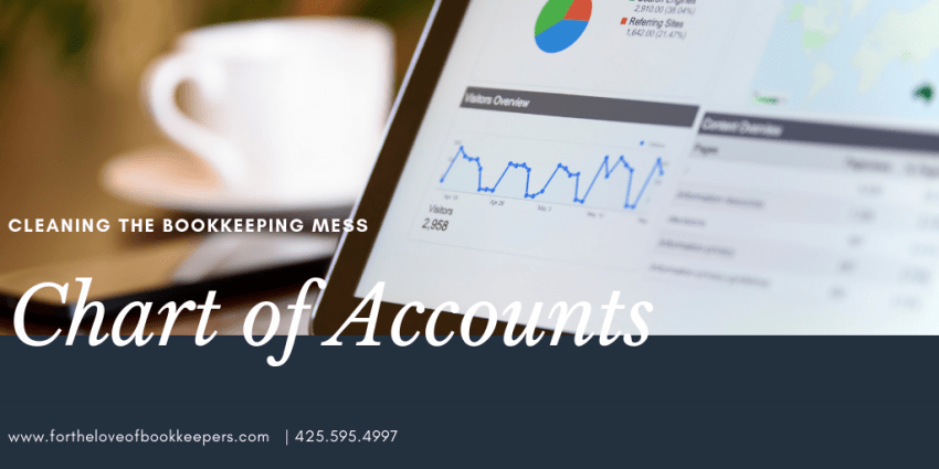 Cleaning the Bookkeeping Mess_Part 3: Chart of Accounts