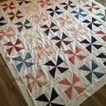 paper pieced quilt, pinwheel quilt