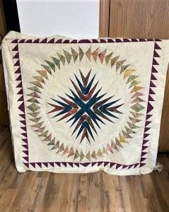 paper pieced medallion quilt