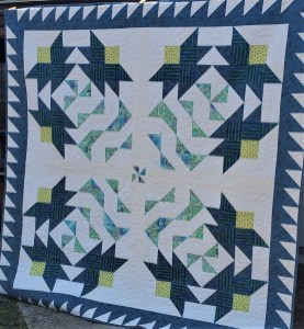 tiger lily patchwork quilt
