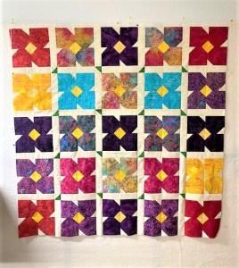 patchwork floral quilt