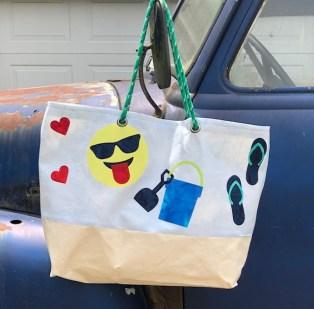 applique beach bag