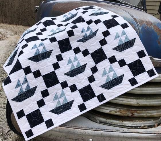 patchwork quilt sail away