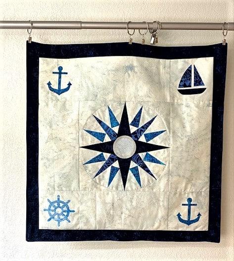 patchwork nautical quitl