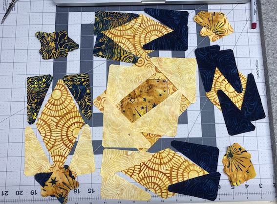 storm at sea with island batik and accuquilt