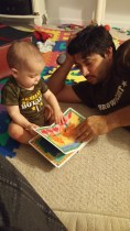 reading time with daddy
