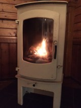 The Mission - log burner keeping us toasty all weekend