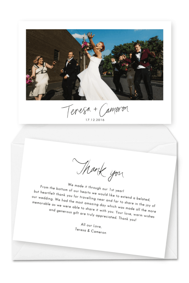 28 Wedding Thank You Cards Wording Examples Note