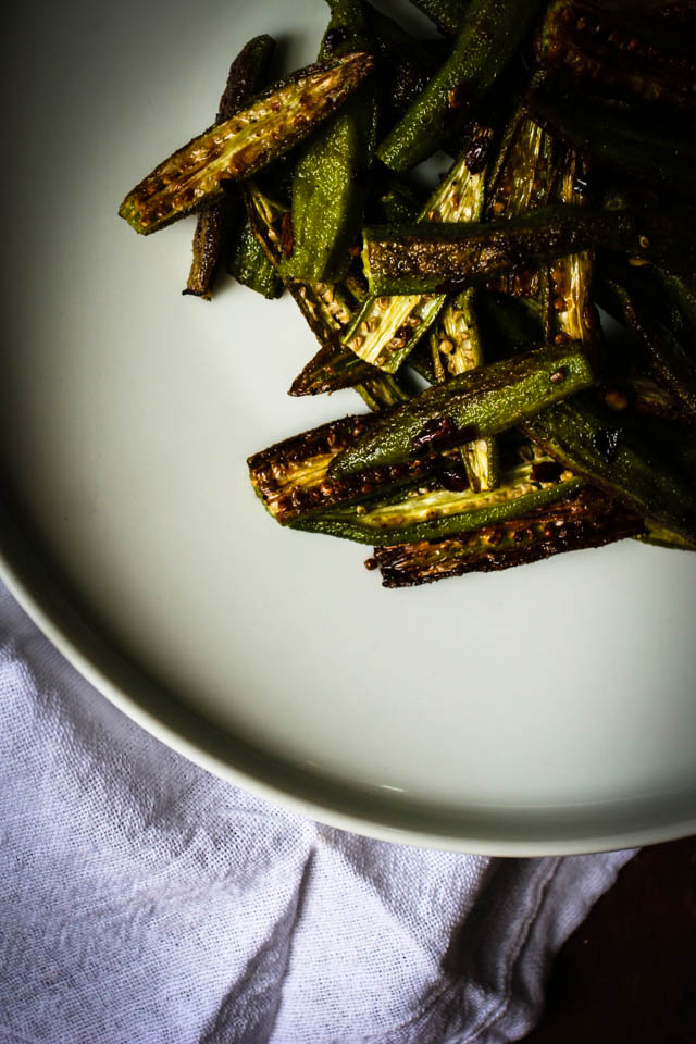 Roasted Okra   for the love of the south