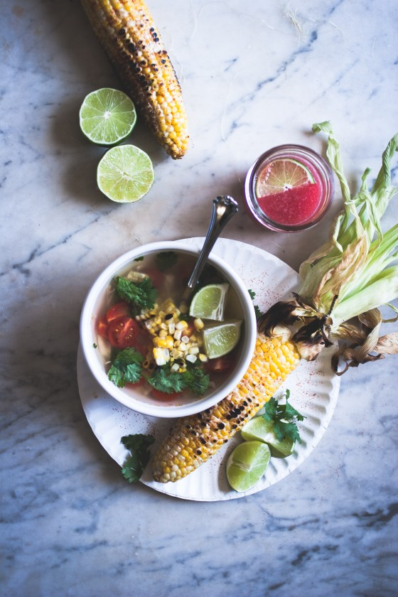 Chicken + Lime + Cilantro Soup, Elote, Watermelon Agua Fresca | for the love of the south