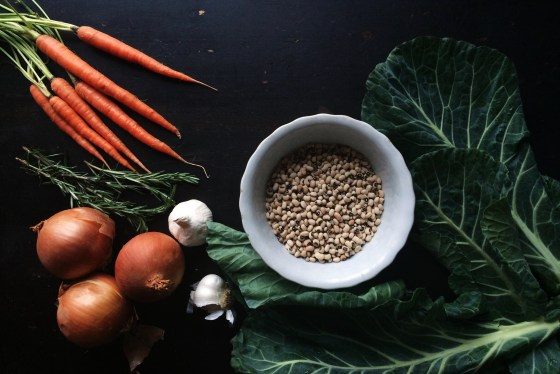 Black-Eyed Pea Cassoulet Ingredients | for the love of the south