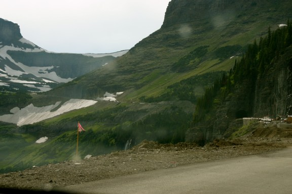 Driving Up to Logan's Pass
