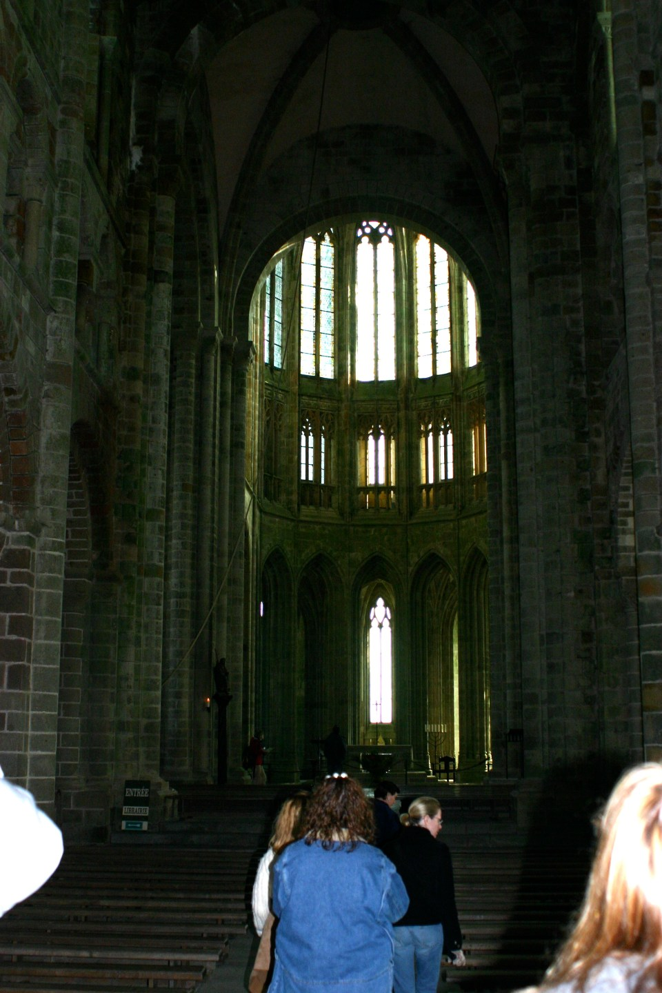 The Inside of The Abbey of Mont Saint-Michel.