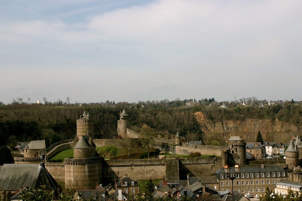 The Castle and Old Wall Remains: Fougeres.